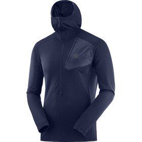 Salomon Grid Midlayer Heren blauw